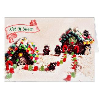 Deixais lhe para nevar cartões de natal do