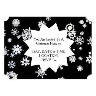 Deixais lhe para nevar! Convite da festa de Natal