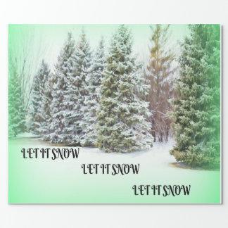 Deixais lhe para nevar! Deixais lhe para nevar! Papel De Presente