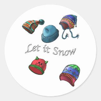Deixais lhe para nevar; Etiquetas do Natal, design