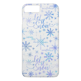 Deixais lhe para nevar teste padrão do inverno capa iPhone 7 plus