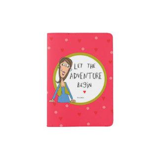 Deixe a aventura começar capa para passaporte