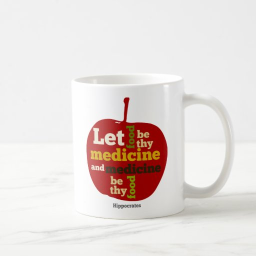 Deixe a comida ser thy medicina APPLE Canecas
