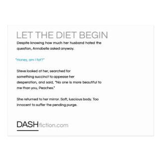 Deixe a dieta começar o cartão