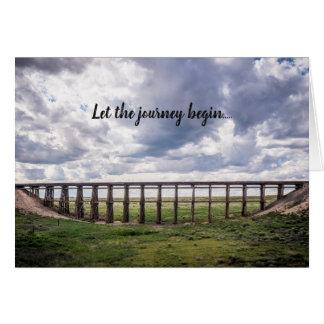 """""""Deixe a viagem começar…"""" cartão"""
