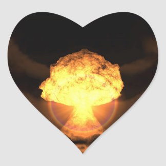 Deixe cair a bomba adesivo coração