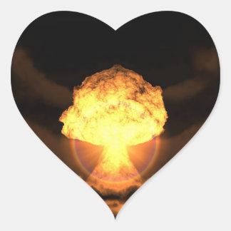 Deixe cair a bomba adesivo de coração