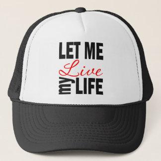 Deixe-me viver meu boné da bola da vida