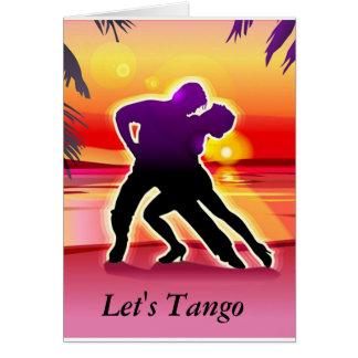 Deixe-nos cartão do tango