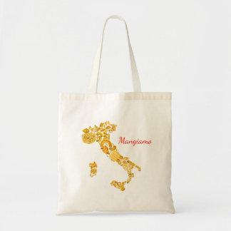 Deixe-nos comer - a bolsa de canvas italiana da