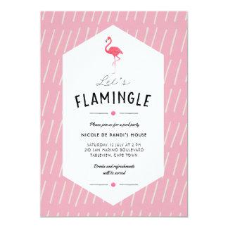 Deixe-nos convite da festa na piscina de Flamingle