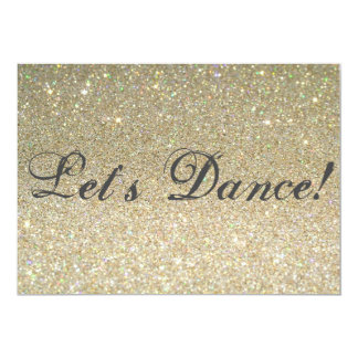 Deixe-nos dançar! convite 12.7 x 17.78cm