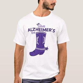 Deixe-nos dar a camisa da bota #1 de Alzheimer