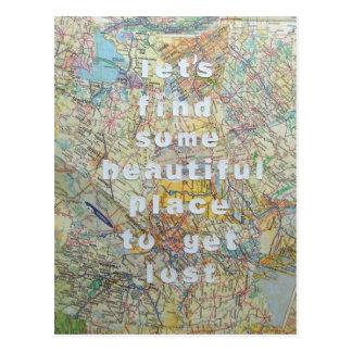 Deixe-nos encontrar algum cartão bonito do lugar