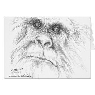 Deixe-nos falar cartões de nota de Bigfoot