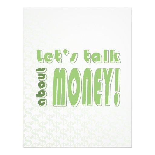 Deixe-nos falar sobre o dinheiro panfleto personalizado