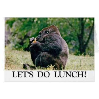 Deixe-nos fazer o almoço! cartão