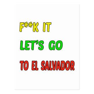 Deixe-nos ir a El Salvador. Cartão Postal