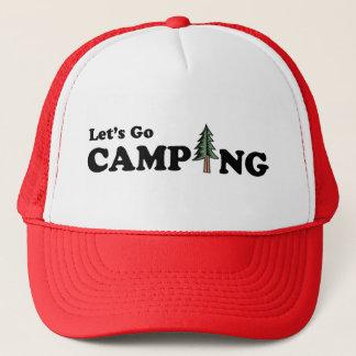 Deixe-nos ir boné de acampamento do pinheiro