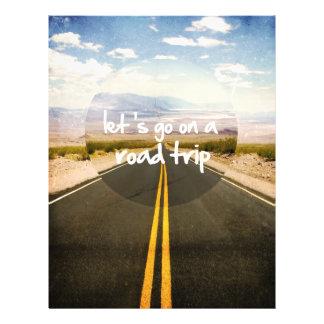 Deixe-nos ir em uma viagem por estrada flyer 21.59 x 27.94cm