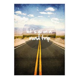 Deixe-nos ir em uma viagem por estrada impressão de foto