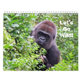 Deixe-nos ir selvagens - calendário do animal