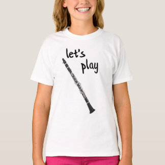 Deixe-nos jogar a camisa do clarinete
