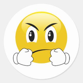 Deixe-nos lutar etiquetas de perfuração de Emoji