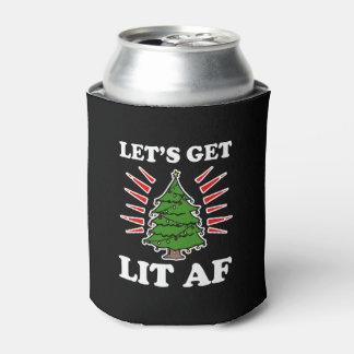 Deixe-nos obter o Lit AF que o Natal engraçado que Porta-lata