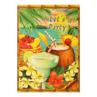 Deixe-nos Party o convite de Luau