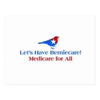 Deixe-nos ter Berniecare - Medicare para tudo Cartão Postal