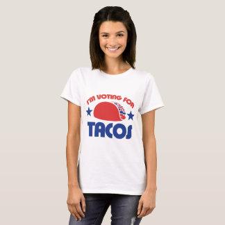 Deixe-nos todo o voto para o Tacos! Camiseta