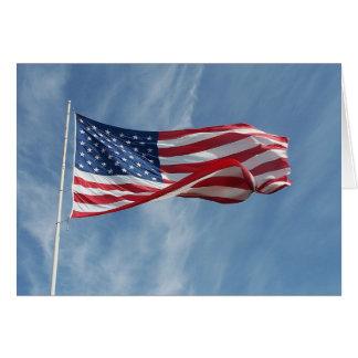 Deixe o cartão da bandeira da onda da liberdade