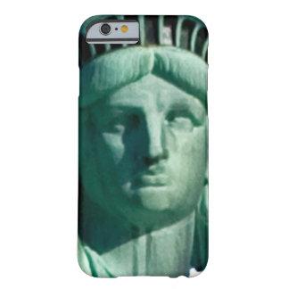 Deixe o fim da estátua da liberdade do anel da capa barely there para iPhone 6