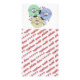 Deixe o fluxo da música bobina a bobina o regis cartao com foto personalizado