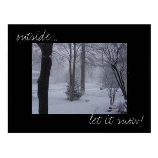"""""""Deixe-o nevar"""" cartão da foto"""
