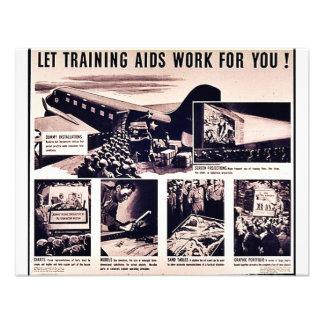 Deixe o trabalho dos auxílios de treinamento para convites