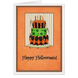 Deixe-os comer o bolo! Cartão do Dia das Bruxas