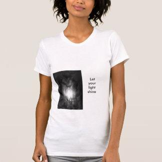 Deixe seu brilho claro t-shirts