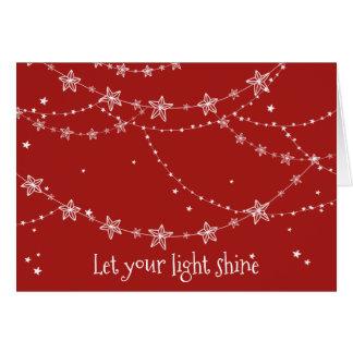 Deixe seu cartão de cartões de natal claro do