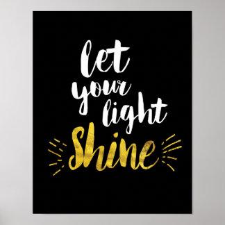 Deixe seu impressão claro da arte do brilho