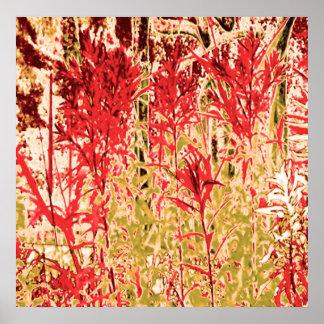 Deixe seu sorriso das paredes: Jardins da borbolet Poster