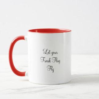 Deixe sua caneca de café arrepiante da mosca da