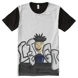 """""""Deixe vão"""" o roupa americano dos homens Camisetas Com Impressão Frontal Completa"""