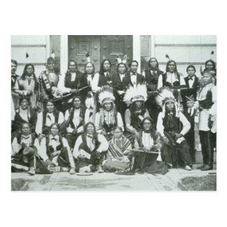 Delegação indiana de líderes de Sioux em Cartão Postal
