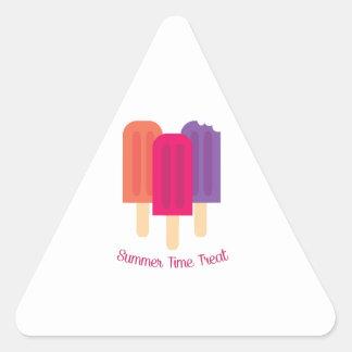Deleite do verão adesivos triângulo