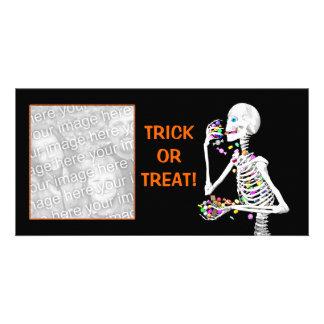 Deleites do esqueleto do Dia das Bruxas Cartão Com Foto