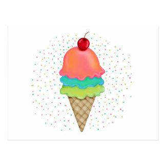 Deleites do sorvete cartões postais
