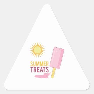 Deleites do verão adesivo triangular
