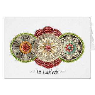 Delicioso no cartão da mandala de Lak'ech
